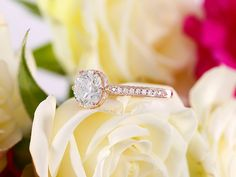 7.5mm Forever One Moissanite Solitaire Engagement Ring with