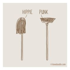 15. Hippie and punk A little conversation a day by ilovedoodle