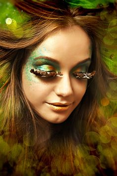 its a forest nymph look, so pretty