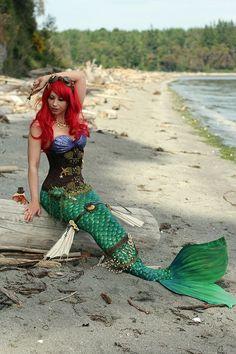 Disney Steampunk Ariel Community The Little Mermaid cosplay Ariel Cosplay, Epic Cosplay, Disney Cosplay, Amazing Cosplay, Disney Steampunk Cosplay, Cosplay Ideas, Superhero Cosplay, Halloween Cosplay, Halloween Costumes