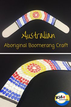 Australian Aboriginal Boomerang Craft - Kidz Activities