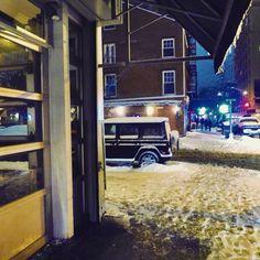 Snowy nights downtown...