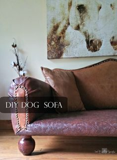 Redo It Yourself Inspirations : How to DIY Leather Dog Sofa and Giveaway