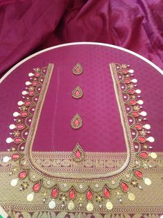 vivaciousadornments's media statistics and analytics Hand Work Blouse Design, Kids Blouse Designs, Simple Blouse Designs, Stylish Blouse Design, Fancy Blouse Designs, Bridal Blouse Designs, Blouse Neck Designs, Hand Embroidery Videos, Hand Embroidery Designs