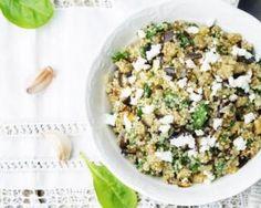 Quinoa aux épinards et à la féta : http://www.fourchette-et-bikini.fr/recettes/recettes-minceur/quinoa-aux-epinards-et-la-feta.html