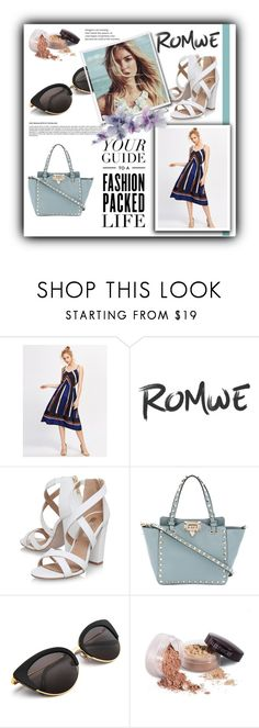 """""""Romwe contest"""" by fashionvoice2015 ❤ liked on Polyvore featuring Miss KG, Valentino, Bloomingdale's and Laura Mercier"""