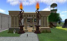 Fantasy Faire - Avatopia Fantasy, Sims, Pergola, Outdoor Structures, Imagination, Mantle, Arbors, Fantasia, The Sims
