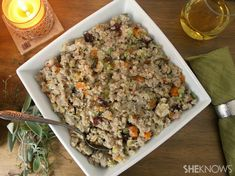 Gluten-free quinoa stuffing recipe-making it vegetarian by swapping chicken for veggie stock