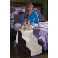 Easy Step III Deluxe Soft Step - Pet Gear Easy Step III Deluxe Soft Step features wide, deep steps to give smaller dogs the ability to get their entire body on each platform and large dogs the ability to comfortably climb the stairs. Pet Stairs For Bed, Dog Steps For Bed, Dog Stairs, Cat Steps, Modern Cat Furniture, Pet Furniture, Dog Beds For Small Dogs, Large Dogs, Animal Design