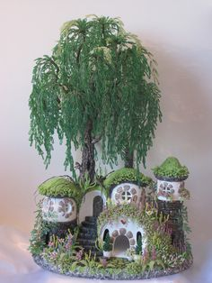 Fairy house with beads-complete tutorial #fairygardening