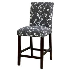 """Avington Berries and Branches 24"""" Counter Stool - Graphite"""