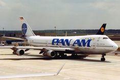 "Pan American World Airways Boeing 747-121(SF) N743PA ""Clipper Black Sea"" at Frankfurt-Main, March 1991. (Photo via Flickr: Axel J.)"