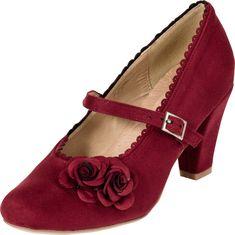 """Die stilvollen Dirndl-Schuhe """"Mary-Jane"""" in Bordeaux sind ein stylischer Hingucker im angesagten Trachten Look! Bestellen & erleben, versandkostenfrei & auf Rechnung!"""
