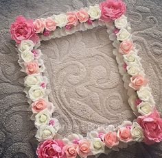 Flower frame wedding party photo booth prop