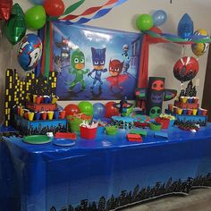 28 ideas birthday poster ideas for 2019 Fourth Birthday, 4th Birthday Parties, Birthday Fun, Birthday Party Centerpieces, Birthday Ideas, Pj Mask Party Decorations, Pjmask Party, Party Ideas, Pj Masks Birthday Cake
