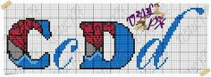 211 C e D Bead Loom Patterns, Stitch Patterns, Chibi Spiderman, Marvel Cross Stitch, Plastic Canvas Letters, Crochet Letters, Cross Stitch Letters, Embroidery Patterns Free, Joker And Harley Quinn