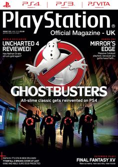 Official #PlayStation #Magazine 123. #Ghostbusters! All-slime classic gets reinvented on #PS4!