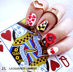 Lacquered Lawyer | Nail Art Blog: Queen of Hearts