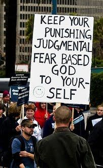 To republicans & GOP:  I'll keep my atheism to myself when I stop hearing about your disgusting god.