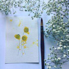 Hello my dears! Today I have a simple trio for you. Craspedia or billy buttons and woollyheads. How cute are those names! Have a wonderful day and lots of love, Pia x 💛 . . .  #watercolor_guide #watercoloring #watercolorpainting #watercolorflowers #watercolorillustrations #watercolorpractice #watercolorflorals #watercolordaily #watercolortutorial #watercolorsummit #watercolorbeginner #watercolorartists #Watercolorvideo #watercolorfloral #watercolorgallery #watercolorists #watercolordoodle… Watercolor Beginner, Watercolor Video, Watercolour Tutorials, Watercolor Artists, Watercolor Flowers, Watercolor Paintings, Doodles, Names, Buttons