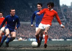 Manchester United's George Best on the ball as United play Chelsea in a Div. One Game circa 1970.