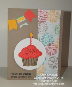 Fun Cupcake by Technique_Freak - Cards and Paper Crafts at Splitcoaststampers