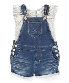 Look what I found on #zulily! Azul Overalls & Ruffle Top - Infant #zulilyfinds