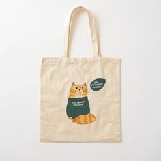 'Cats against Catcalling - Cat in Statement Shirt ' Tote Bag by Kerstin Ebner Printed Tote Bags, Cotton Tote Bags, Reusable Tote Bags, Large Bags, Small Bags, Statement Shirts, Medium Bags, Chiffon Tops, Shopping Bag