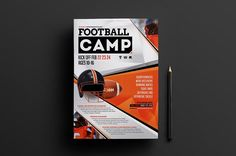 A4 Football Camp Poster Template v2 by BrandPacks on @creativemarket