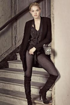 Paula Cahen D´Anvers AW12 - Camisa y Calza lurex  60%tencel/26%metal/14%polyester - 14gg