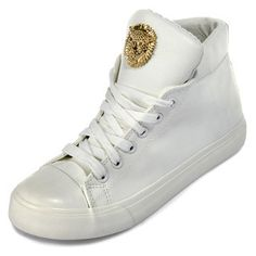Buy 'yeswalker – Lion Accent Faux Leather High-Top Sneakers' with Free International Shipping at YesStyle.com. Browse and shop for thousands of Asian fashion items from Hong Kong and more!