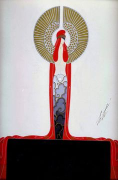 Romain de Tirtoff    Costume design for the Diamond in Les Pierres Précieuses, Folies-Bergère, Paris, 1923 and Irving Berlin's Music Box Revue, New York, 1924