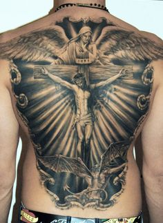 Realism Religious Tattoo by James Tattooart