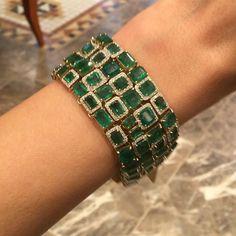 Emerald Bracelet #Bjc #Bahrain