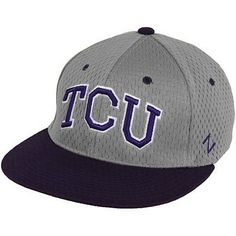 db61020edcd TCU Texas Christian University Horned Frogs Jersey Z Fit Zephyr Hat Gray  Purple