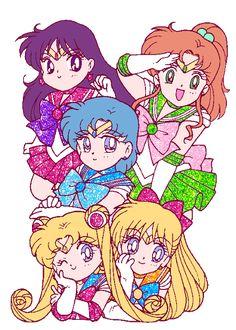 Pretty Guardian in a Sailor Suit Sailor Moon Gif, Sailor Moons, Arte Sailor Moon, Sailor Moon Crystal, Sailor Venus, Sailor Scouts, Wallpapers Sailor Moon, Sailor Moon Wallpaper, Sailor Saturno