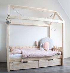 Little Dreamers Bedhuisje EMMA met uitvalbeveiliging Big Girl Bedrooms, Girls Bedroom, Toddler Rooms, Toddler Bed, Little Girl Beds, Big Beds, New Room, Girl Room, Baby Room