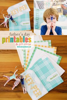 fathers day printables {and custom keychains} - the handmade home