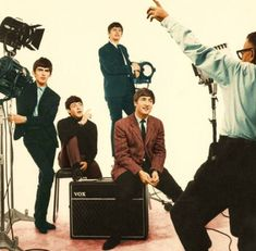 #TheBeatles at a photo shooting with Dezo Hoffmann, London, 1963