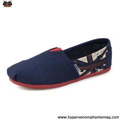 Cavan Flag Blue Womens Artist Toms Shoes Casual shoes Store