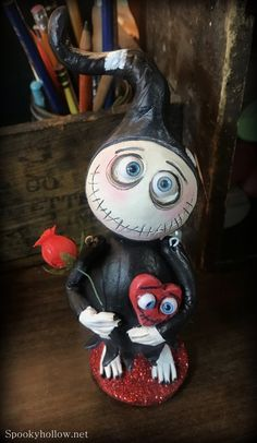 Ready to ship Valentine's day Grimmy Reaper Halloween art doll