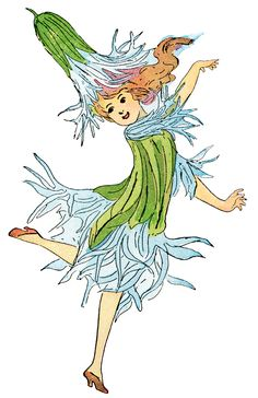 Ragged Robin Flower Child ~ Free Printable Vintage Storybook Clip Art