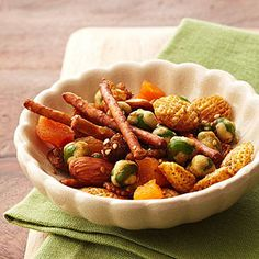 Sweet and Spicy Wasabi Snack Mix