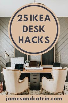 You deserve a great desk for your home office and these Ikea desk hacks can help you achieve it simply and cheaply. There are some really stylish Ikea desk hacks that you're sure to find inspiration from. Ikea Furniture Hacks, Diy Furniture Projects, Cheap Furniture, Desk Hacks, Ikea Hacks, Ikea Nordli, Space Saving Desk, Ikea Billy Bookcase Hack, Ikea Decor