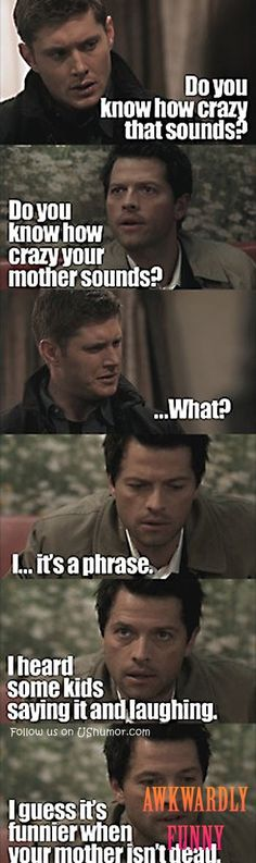 LOL! Check this out Thata???s OK Castiel at least you tried
