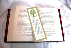 100 Tree Rustic Wedding Bookmarks Favor by creatingapapermemory