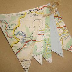 Mini Map Bunting