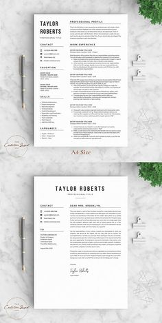 Update | Resume Template | Cover Letter Design | Modern CV | Template | Download Now