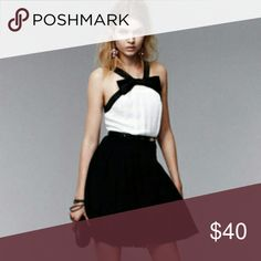 Prabal Gurung for Target Dress Black and white bow front pin tucked bodice dress with pleated skirt. Size 4. Prabal Gurung for Target Dresses Mini
