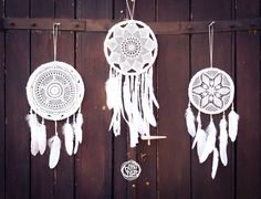 Wedding Decoration Dream Catchers  3 Dream Catchers  by bohonest #dream #catcher #decor #decoration #hippie #hipster #boho #native #american #indian #tribal #feather #feathers #home #bedroom #nursery #mobile #dreamer #unique #boho nest #gift #sale